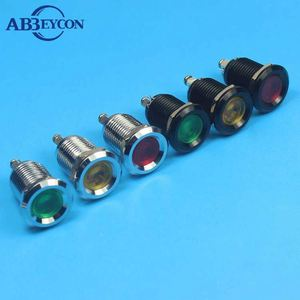 Abbeycon 8mm stainless steel waterproof mini led signal Light (IP67)
