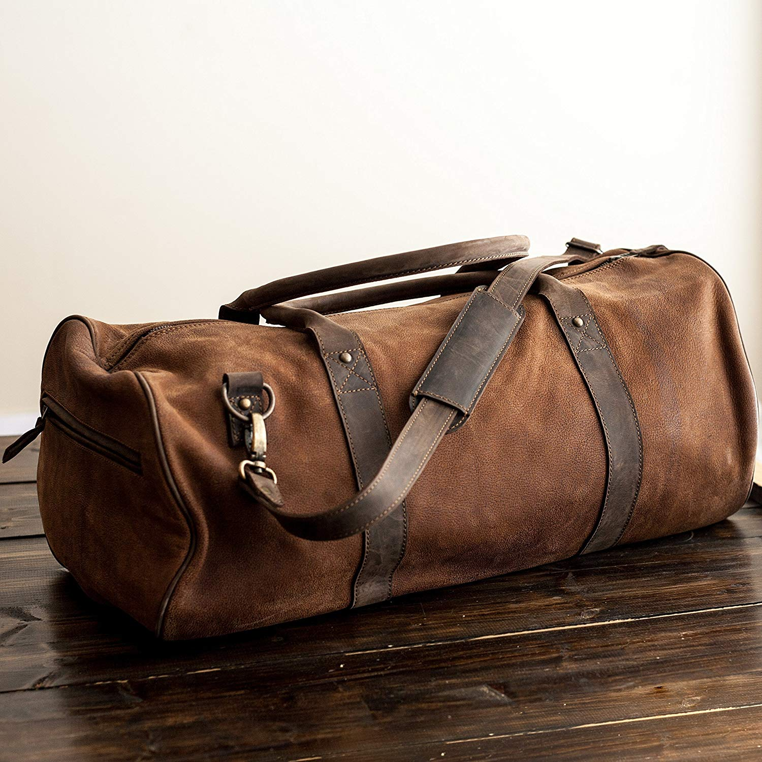 Get Quotations · Pegai Premium Top Grain Leather Duffel Bag 6936fcbf910b7
