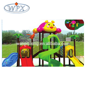 Commercial plastic slide children outdoor playground games playsets