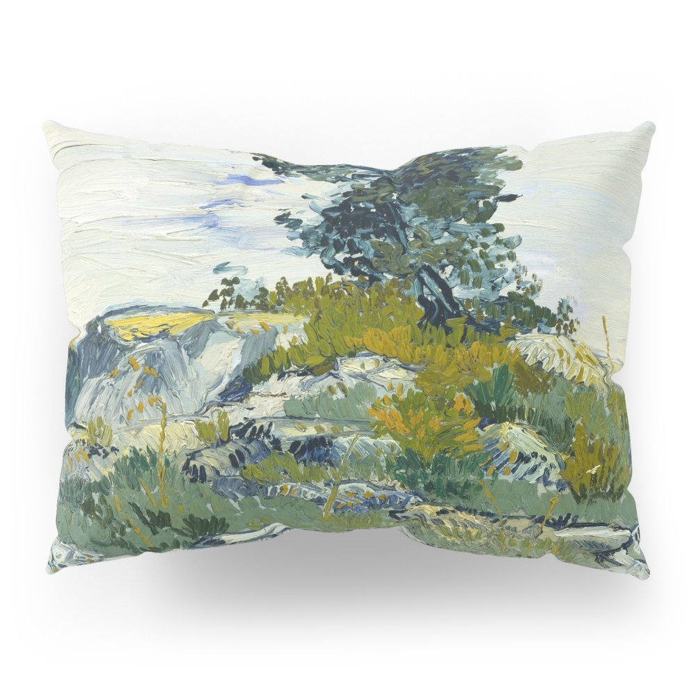 "Society6 The Rocks By Vincent Van Gogh Pillow Sham Standard (20"" x 26"") Set of 2"