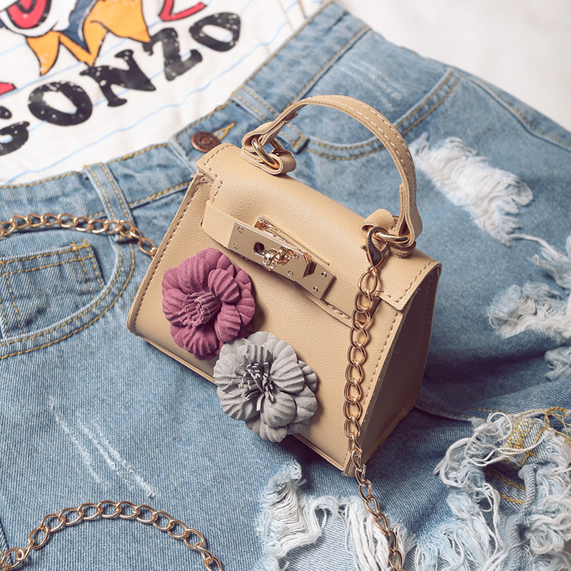 Flower Crossbody Bag PU Leather Women Teenage Girls Small Shoulder Messenger Bags
