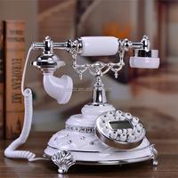 retro vintage old antique style cord phone/telephone