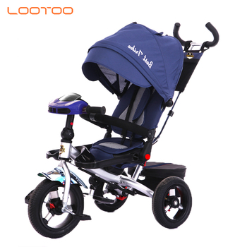 2019 CE EN71 three wheels kids toddler folding baby stroller trike foldable with canopy and light & music