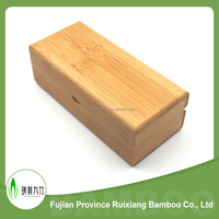 Eco friendly bamboo Material, natural Color Bamboo Eyewear case, bamboo sunglass case with flap cover