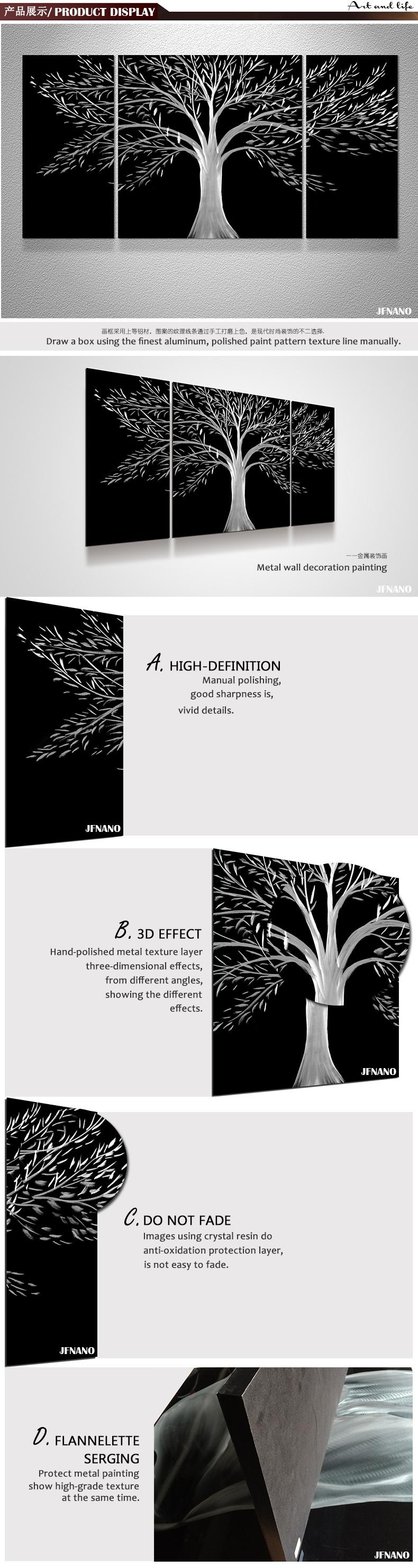 Mode Hochzeit Dekoration Lebensbaum Metall Malerei Moderne Kunst