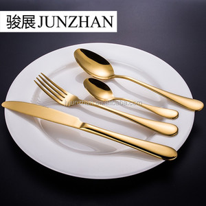 Stainless steel golden spoon made by Junzhan Factory directly