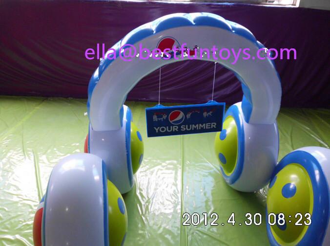 China Supplier Pvc Inflatable Headphones Plastic Giant Earphones ...