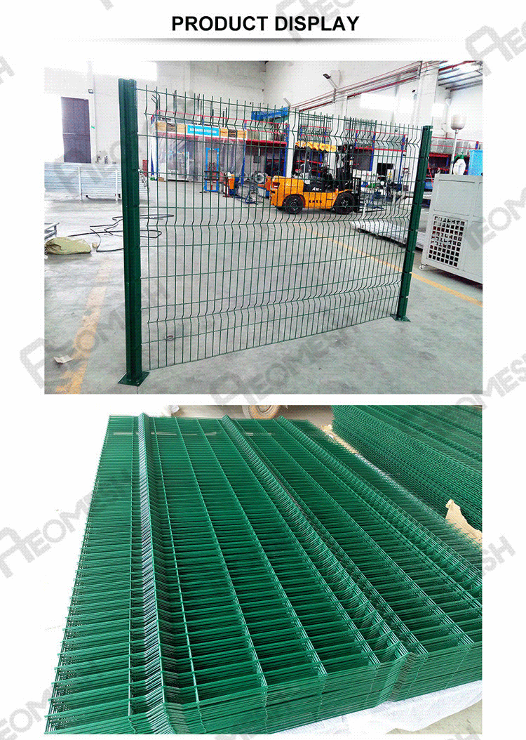 Made in Guangzhou Professional Factory Highway Fence Barbed wire at top Galvanized Welded Wire Mesh