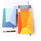 Color stitching art School wholesale stationary dotted note book custom printed A5 hardcover promotional notebook