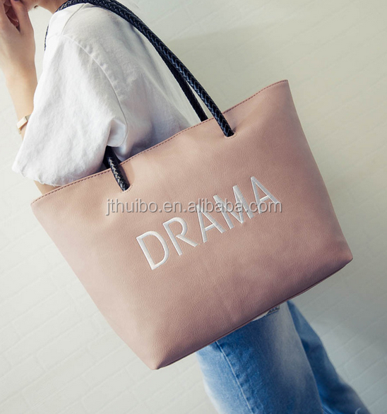 2017 Fashion women Leather PU tote bag latest design hand bags