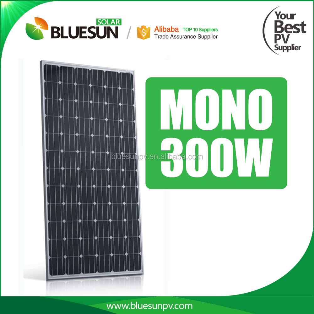 Bluesun 4BB cell 300w mono iec tuv <strong>ce</strong> cec solar panel for power system
