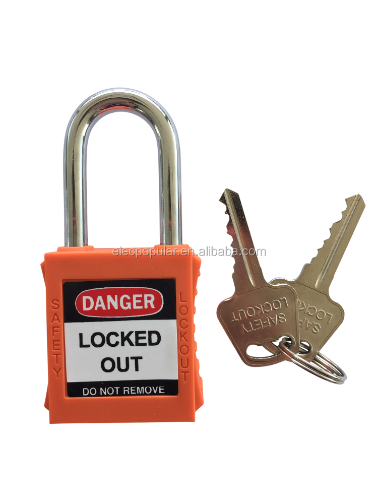 38mm shackle plastic safety padlock with master keys