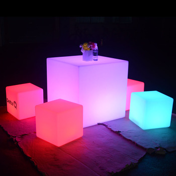 led cocktail bar table glow furniture led light cube seat led chairs and tables