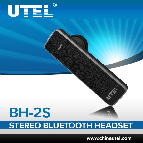 UTEL BH-2S stereo earpiece oem/odm head phone high quality bluetooth earpiece
