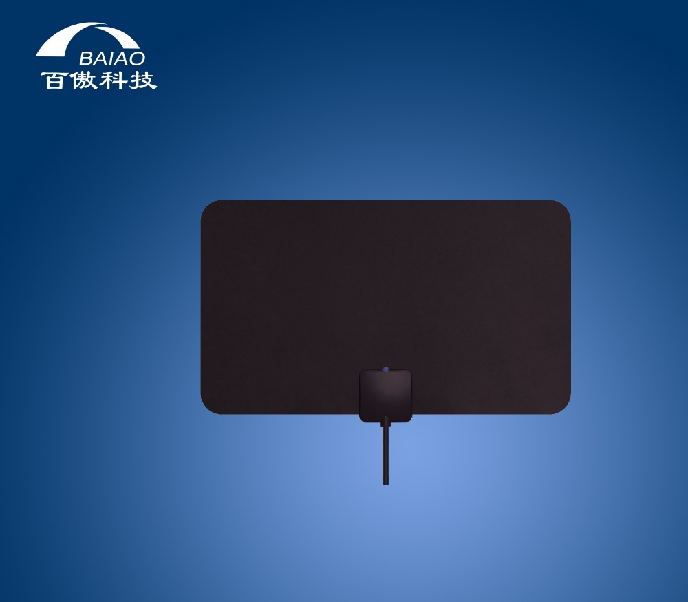 Indoor Antenna TV Amplificatore Mile Gamma Regolabile Creativo a Schermo Piatto HDTV Ultra Sottile