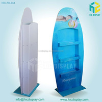 HIC 4 shelves 3 sides shampoo display stand, hair dyes cardboard display