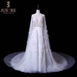 Ivory Purple Lace Wedding Dress a073bceb019a