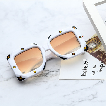 MG1665 diamond big frame sunglasses women custom logo white label polar sunglasses italy