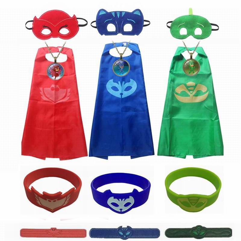 Boys Girls Pjmasks Catboy Owlette Gekko Cosplay Costumes Halloween Christmas Kids Birthday Party Dress Children Clothing Superhe