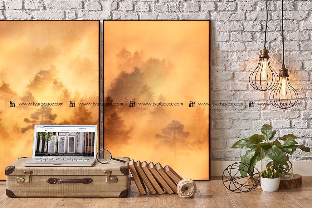Kamer decor versiering art zijde afdrukken muur art stof