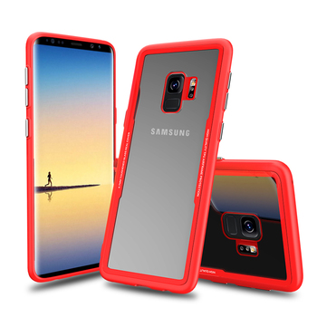 For Samsung Galaxy S9 Cover TPU Phone Glass Case