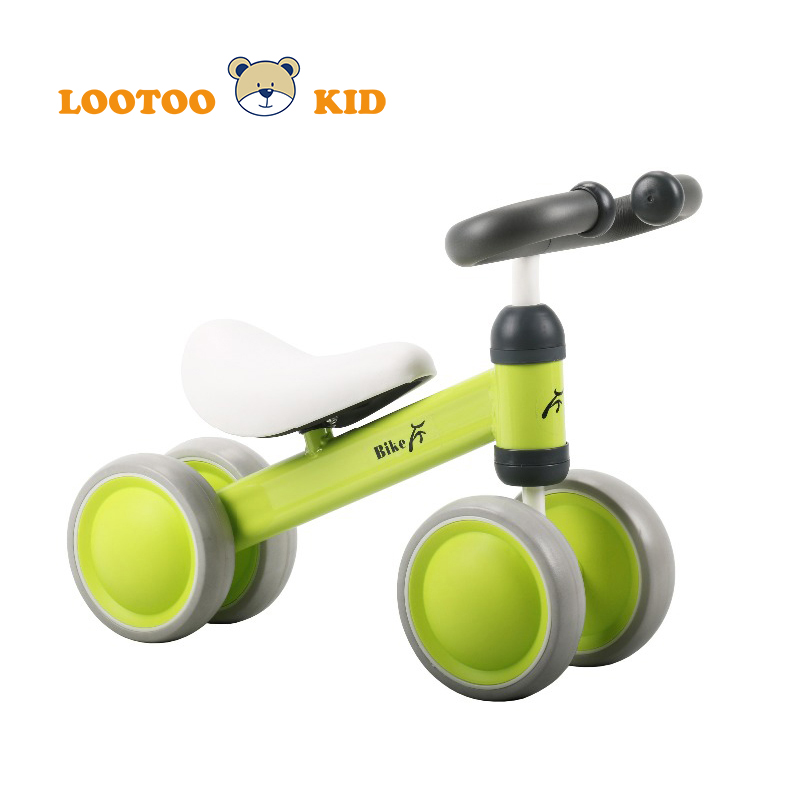 Inflatable 2 wheel no pedals best first learning running walking kick scooter toddlers bike for outdoor playing