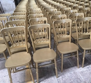wooden used stackable chateau napoleon chairs for wedding banquet