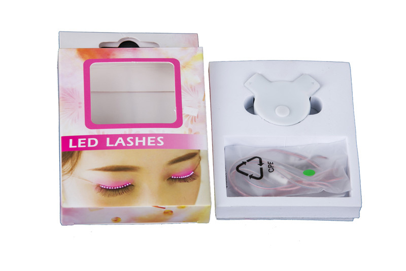 Color Changing interactive luminous glowing LED eyelashes for sale