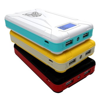 Plastic LCD Transformers Power Bank 8800mAh