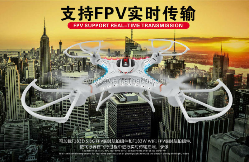 DFD F183D 5.8GHz RC Quadcopter Kit 6 Axis Gyro 4CH 5.8G Real-time FPV with 2.0MP HD Camera LCD Display