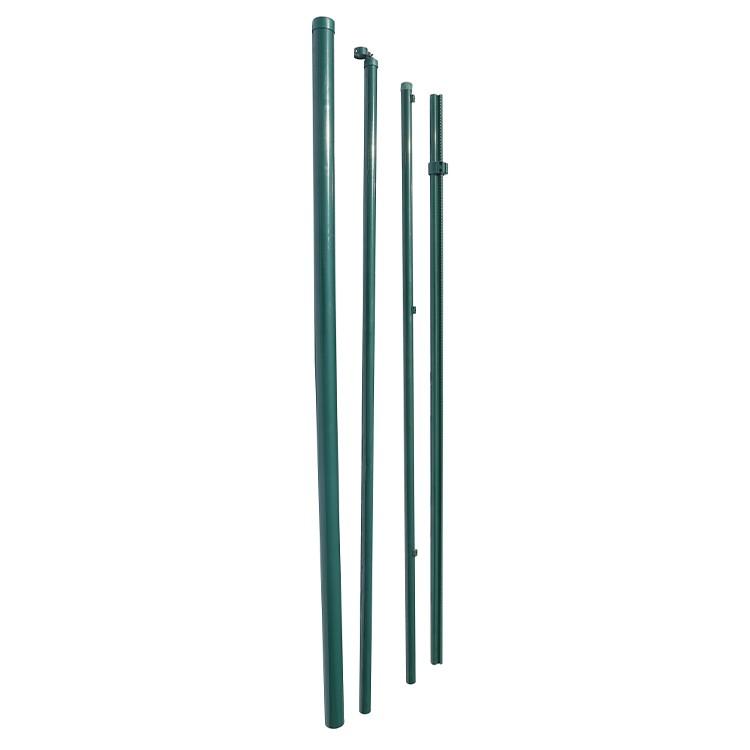Green PVC coated iron metal post HD9868341