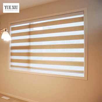 patio door window treatments patterned blackout curtains Zebra Roller Blinds