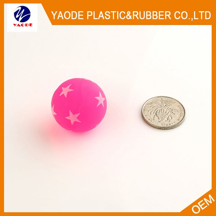 Latest product custom design inirritative high rubber playground bouncing ball