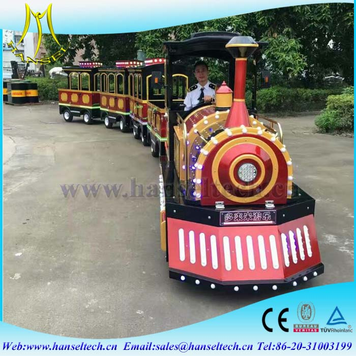 Hansel Shopping Malls Amusement Park Electric Train Rides Indoor Kids Riding Eelctric Train for sale