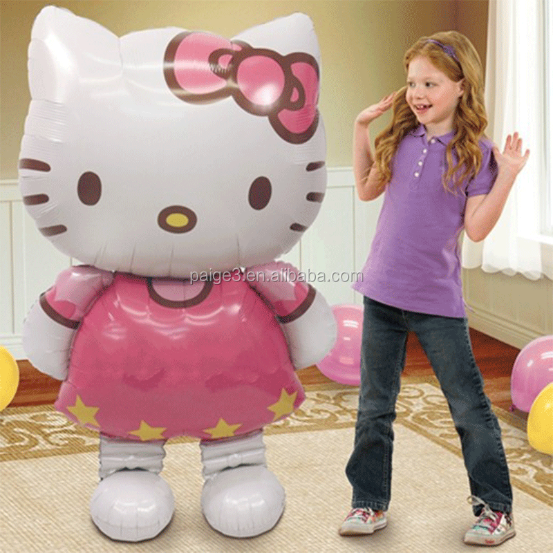 Partigos Large Size Hello Kitty Cat Foil Balloons Cartoon Birthday Wedding Decoration Globos Party Inflatable Air Ballons
