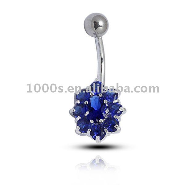silver plated ,alloy belly button jewelry