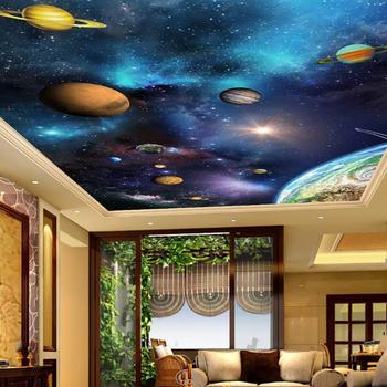 Factory Wholesale 3D Ceiling Planet Wallpaper