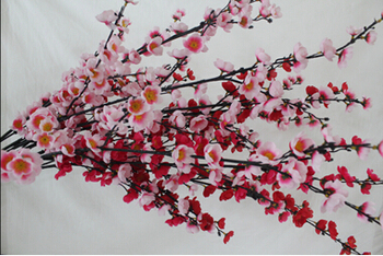Anese Silk Plastic Flower Cherry Blossom Design