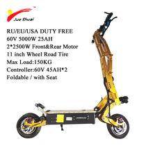 5000 Вт 95KMH электрический скутер 11 дюймов два мотора колеса E самокат бесщеточный мотор складной скейтборд Trotinette Electrique Adulte(Китай)