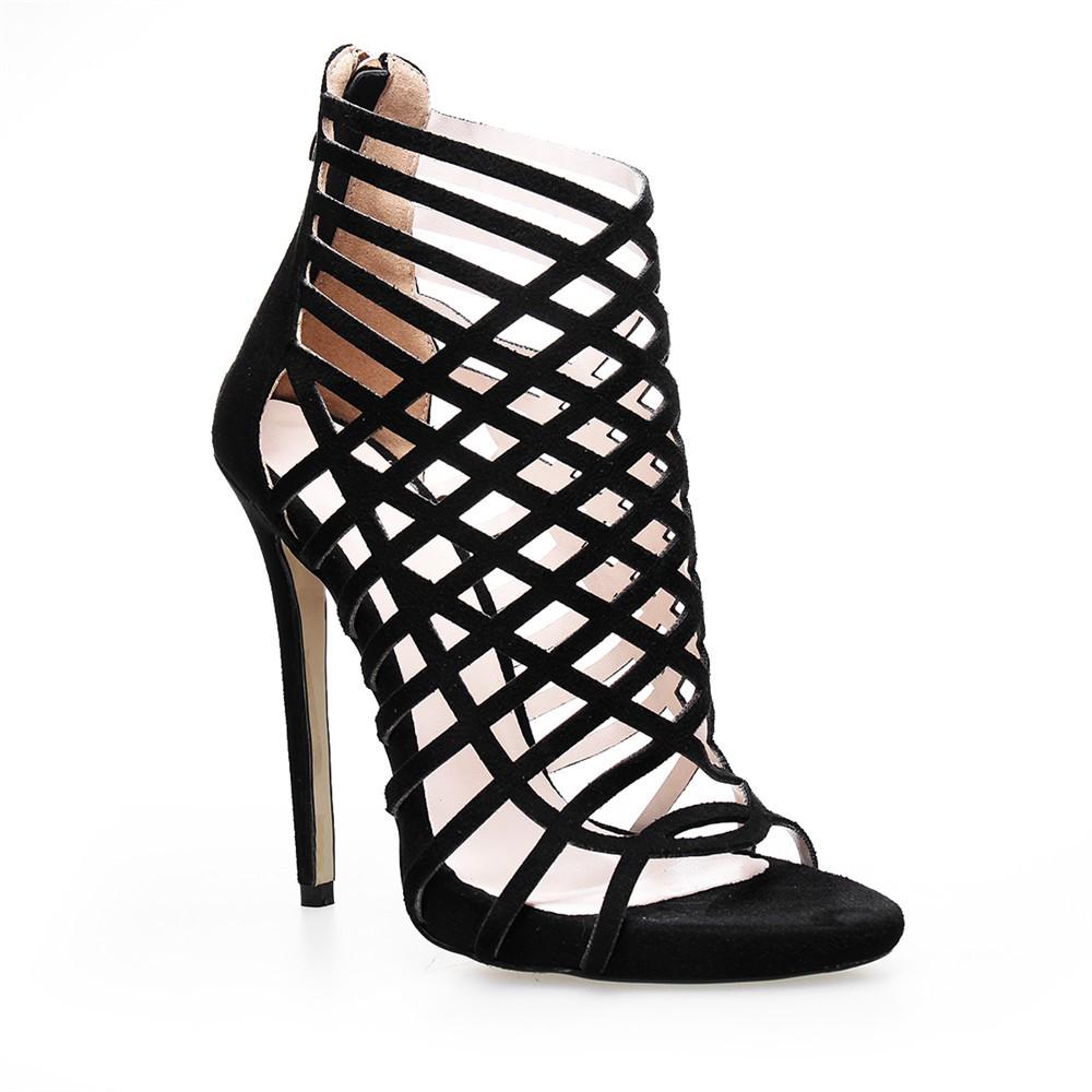 6b557dd1768a15 OLNS009 2017 Latest Peep Toe High Heel Summer Sandals For Girls ...