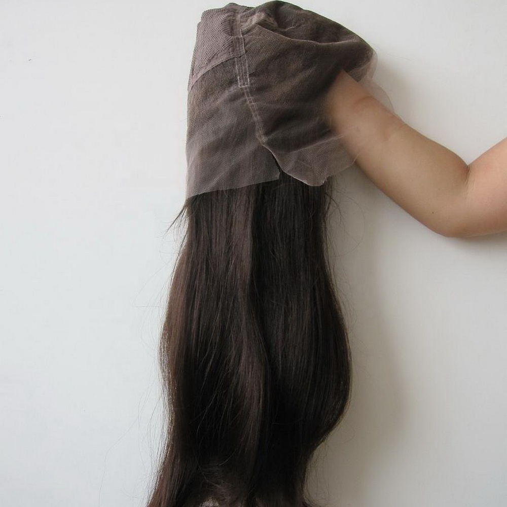 100% brazilian unprocessed raw human hair full lace wig