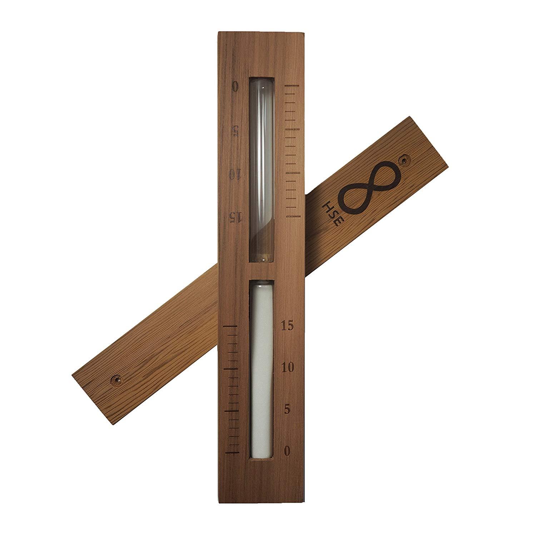 HSE Cedar Box Sauna Sand Timer - 15 Minutes - Choose Your Sand Color (15 Minutes, White)