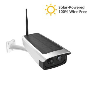 Outdoor with 6600mAh Solar Powered Battery Wire-Free Security IP Camera IR-Cut Night Vision CCTV Video Camera,