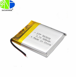 Rechargeable lipo lithium polymer 503030 li-ion cell and li-polymer battery 3.7v with 400mah for smart watch
