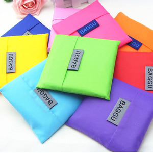 Wholesale Polyester Folding Foldable Grocery Bag, Custom Nylon Reusable Foldable Shopping Bag