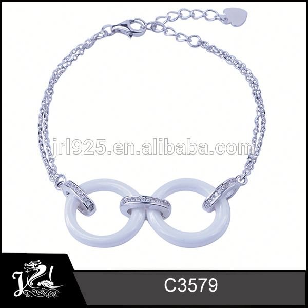 Fashion silver women wholesale silver jewelry shamballa bracelet 925 sterling silver price per gram