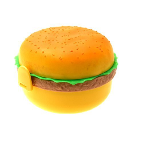 Get Quotations Hamburger Shape Plastic Bento Lunch Box With Fork Spoon Wonderful Gift