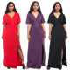 Hot Sale Arabic Women Sexy V Neck Long Party Dress Plus Size