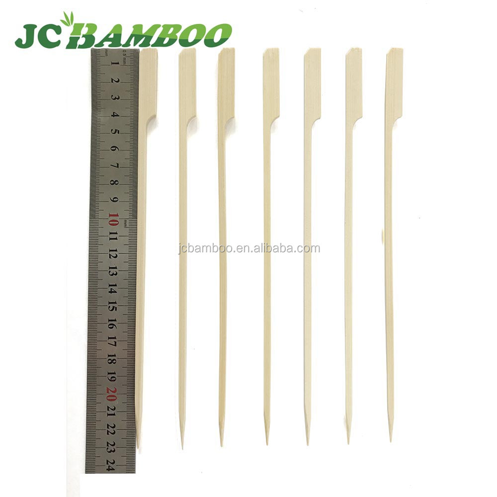 indonesian charcoal round flat gun bamboo skewer for telescoping roasting sticks