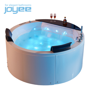 JOYEE luxury freestanding round bowl bathtub massage small sex tub in bath wooden barrel bath tub round hot tub